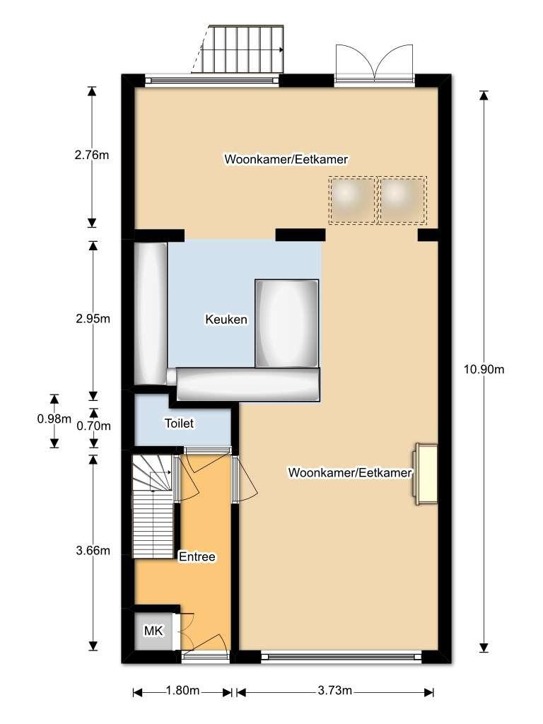 Plattegronden woningperspectief for Indeling woning